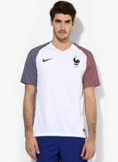 Buy Nike France Fff Ss Aw Stadium White Sports Jersey from Jabong