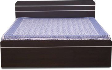 Get 58% off on Decor Modular ORION Engineered Wood Queen Bed(Finish Color -  Black)