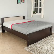 Valtos Engineered Wood Queen Bed  (Finish Color -  Wenge) for Rs. 8,999