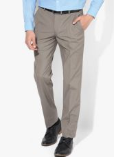 Flat 50% off on Park Avenue Grey Solid Slim Fit Formal Trouser