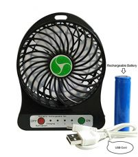 Prime Ecom Generic Mini Portable Usb Rechargeable 3-Mode Fan (Black) for Rs. 265