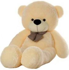 Flat 57% off on CLICK4DEAL 5 feet long soft huge teddy bear cream (best for surprise gift)  - 152 cm  (Beige)