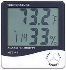 Buy Htc-1 Digital Lcd Thermometer Temperature Humidity Meter With Clock Calendar Alarm from Rediff