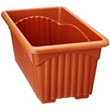 Buy Easy Gardening Royal 2 Rectangle Pots - Terracotta Color Planter (Pack of Six) from Amazon