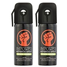 Impower Self Defence Black Pepper Spray for Unisex Sprays - 100 g (Pack of 2) for Rs. 400
