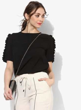 Dorothy Perkins Black Solid Blouse for Rs. 986