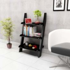 Get 53% off on Onlineshoppee Escalera Leaning Bookcase Ladder and Room Organizer Engineered Wood Wall Shelf-Black
