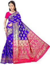 Get 60% off on The Fashion Outlets Woven Banarasi Cotton, Silk Saree