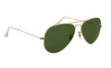Buy Nau Nidh Aviator Style Uv Protected Sunglass Golden Frame Green Lens from Rediff