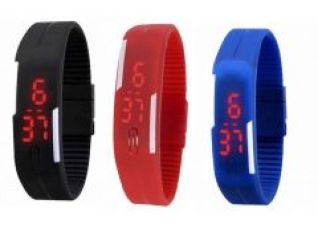 Buy Pack Of 3 Different Color LED Watches from Rediff