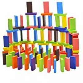 HOME CUBE® Standard Wooden Domino Run Board Building Blocks Educational Toys for Children Boy Girl Games Kids Gift - ( Pack Of 120 Pcs ) for Rs. 440