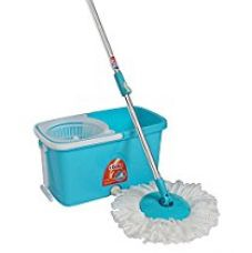 Buy Gala Popular Spin mop with Easy Wheels and Bucket for Magic 360 Degree Cleaning (Sky Blue) from Amazon