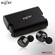 KLIDER ProAudio True Bluetooth v4.2 Earphones With Deep Bass Stereo Sound, CVC 6.0 Noise Cancellation, Magnetic Charging Case And Mic (Metal Black) for Rs. 2,299