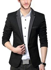 Bregeo Fashion Black Blazer
