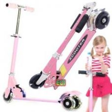 Flat 67% off on Eci Pink Just Start Kids Scooter Ride On Children Scooty Bike Folding Cycle