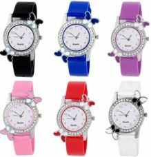 Buy OpenDeal New Butterfly Colourful Stylish Combo Watch For Girls & Women W-O57 Watch  - For Girls from Flipkart