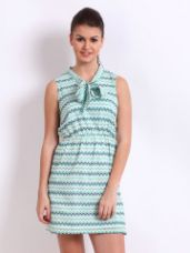 Buy Printed Fit & Flare Dress from Myntra