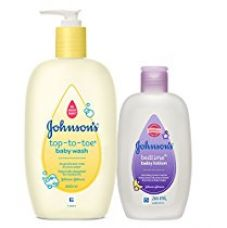Johnson's Top to Toe Baby Wash - 500ml (With Free Johnson's Bedtime Baby Lotion - 200ml) for Rs. 234