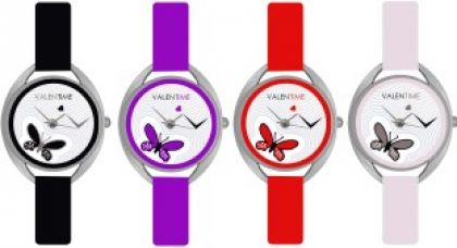 Get 41% off on Valentime Branded New Latest Designer Deal Colorfull Stylish Girl Ladies9 22 Feb LOVE Couple Watch  - For Girls
