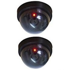 Cartshopper 2 Pcs Dummy Security CCTV Fake Dome Camera with blinking red LED Light Indication. For home or office Security for Rs. 314