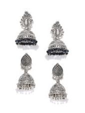 Buy Set of 2 Dome Shaped Jhumkas for Rs. 450