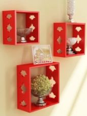 Set of 3 Cube Wall Shelves for Rs. 428