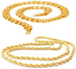 Sparkling Brass Lotus Design Brass and Rope Design Alloy Chain for Men for Rs. 399