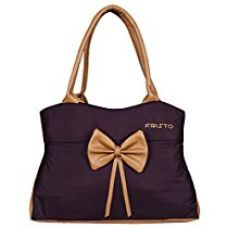 Fristo Women's Handbag(FRB-203)Purple and Beige for Rs. 399
