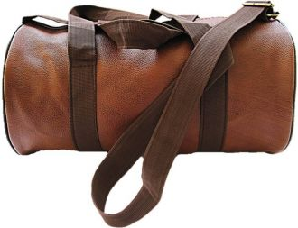 Muccasacra Weekender Duffel Gym Bag with 3 compartments (Scrubbed Dark Brown) Gym Bag  (Brown) for Rs. 300