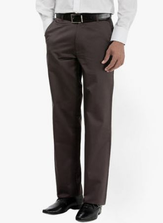 Basics Brown Regular Fit Chinos for Rs. 840
