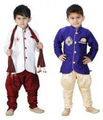 Buy SBN MAROON SHERWANI AND BLUE SHERWANI SET OF - II from SnapDeal