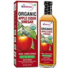 StBotanica USDA Organic Apple Cider Vinegar With The Mother - Raw, Unfiltered, UnPasteurized - 500ml (Glass Bottle) for Rs. 449