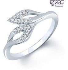 Flat 71% off on Sukkhi Silver Plated  Silver Rings For-Women