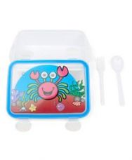 Get 50% off on Rectangle Shaped Lunch Box With Fork And Spoon - White...