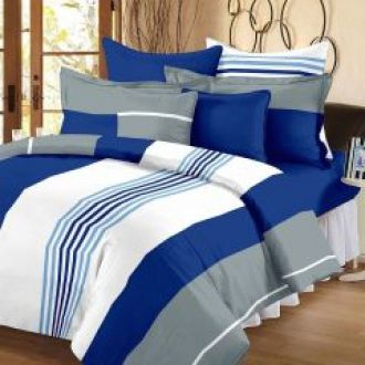 Buy 100 Percent Cotton Double Bedsheet With 2 Pillow Covers (code - Rg-cb-15) for Rs. 449