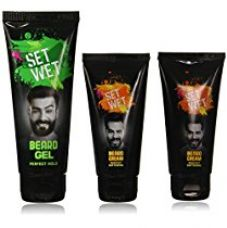 Set Wet Beard Styling Cream, 50ml (Pack of 2) with Set Wet Beard Styling Gel, 100ml for Rs. 183