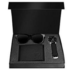 LORENZ Combo Of Black Men's Wallet ,Sunglasses & Watch for Rs. 549