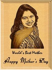 Incredible Gifts India Mother's Day Gift - Engraved Wooden Photo Plaque (5 X 4 Inches) for Rs. 449