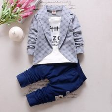 Flat 10% off on Gray Text Print Full Sleeves Jacket Style T-Shirt And Pant Set