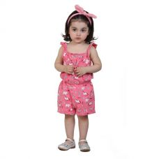 Animal Print Jumpsuit Pink for Rs. 718