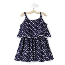 Birds Printed Dress - Blue for Rs. 499