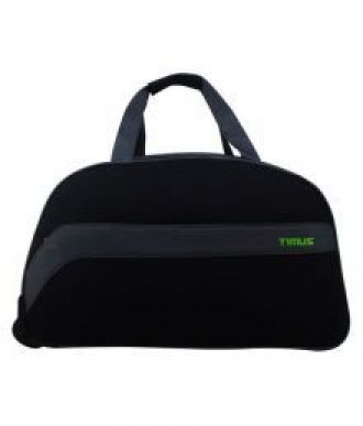Buy Timus Bolt 55 Cm Black 2 Wheel Duffle Trolley For Travel (Cabin Luggage) from SnapDeal