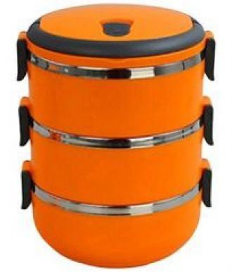Get 33% off on 6th Dimensions Three Layer Stainless Steel Hot Vaccum Insulated Lunch Box(orang)