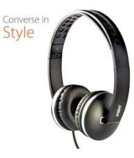 Buy Envent ET-HPM500 BK On Ear Wired Headphones With Mic from SnapDeal