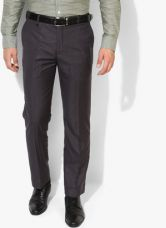 Park Avenue Dark Grey Solid Slim Fit Formal Trouser for Rs. 1125
