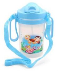 Buy Sipper Water Bottle Blue - 350 ml for Rs. 85