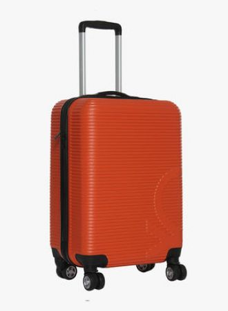 Get 69% off on United Colors of Benetton Rust Hard Luggage 8 Wheel Cabin Strolley