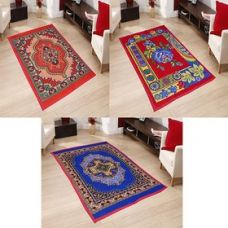 Get 77% off on SNS MULTICOLOR FLORAL QUILTED CARPET SET OF 3