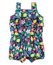 Flat 50% off on Carter's Sleeves Toucan Romper Floral Print - Multi Colour