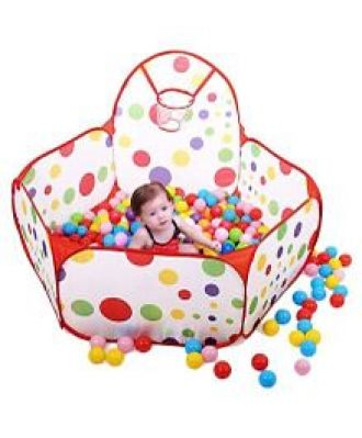 Buy Webby Kids Play Zone Tent & 50 Balls - Multi Color from FirstCry
